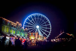 Hyde Park's 'Winter Wonderland' at night