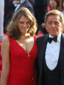 Valentino with Liz Hurley at Cannes
