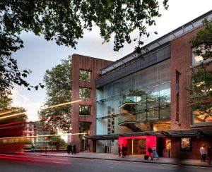 An external shot of the Sadler's Wells theatre in London
