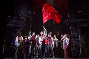A shot of part of the cast of Les Misérables