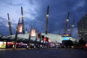 An external shot of the London O2 Arena