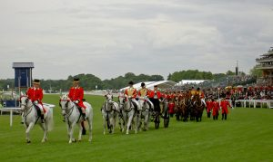 A horse parade at Royal Ascot