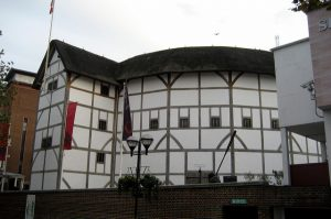 An external shot of Shakespeare's Globe Theatre in London