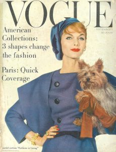 A cover of Vogue Magazine from 1957