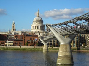 A view of St Paul's Cathedral, London, from across the Thames