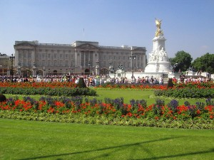 Buckingham Palace on a bright summer's day