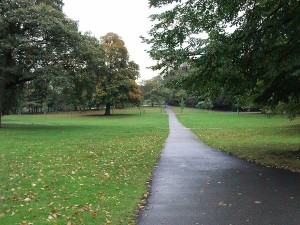 A look down a path in Greenwich Park, London