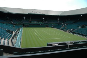 A view of Wimbledon tennis courts