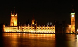 The Houses of Parliament and Big Ben, London at night