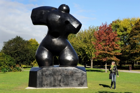 A sculpture in Regents Park as part of the Frieze Contemporary Art Fair