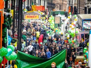 The St Patrick's Day parade in London