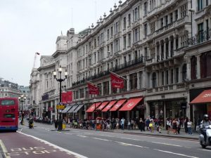 An external view of Hamleys on Regent's Street, London