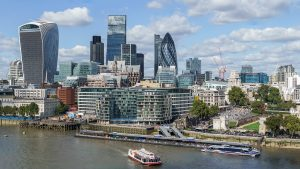 The city skyline of London