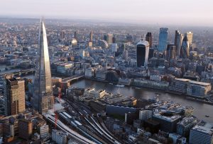 The London skyline from above