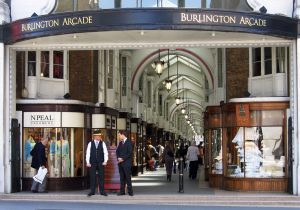 External shot of Burlington Arcade in Mayfair, London