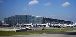 External shot of London Heathrow's Terminal 5 airport