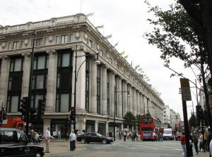 An external view of Selfridges, London