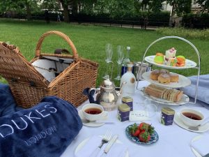Picnic in the Park celebrating Wimbledon at DUKES LONDON