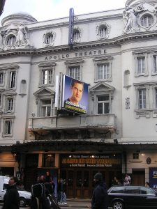 An external shot of the Apollo Theatre, London