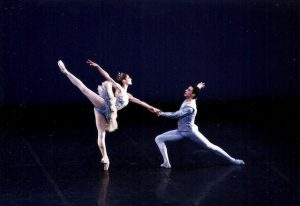 Male and female ballet dancers of the Boston Ballet