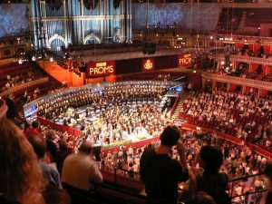 An internal shot of the Royal Albert Hall for the BBC Proms
