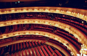 An internal shot of the Royal Opera House, London
