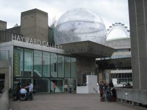 An external shot of the Hayward Gallery, London