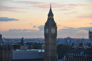 A view of the clock on Big Ben, London