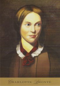 A postcard with an image of Charlotte Bronte