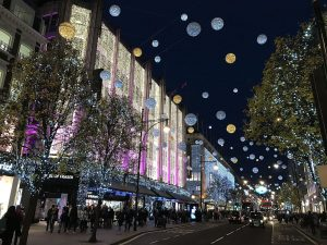 The Christmas lights on Oxford Street, London