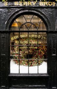 An external view of the Berry Bros & Rudd shop in London