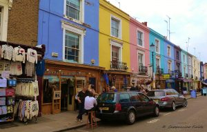 A small, colourful section of Portobello Road Market