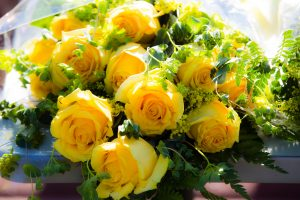 Bouquet of yellow roses for Mother's Day 2019